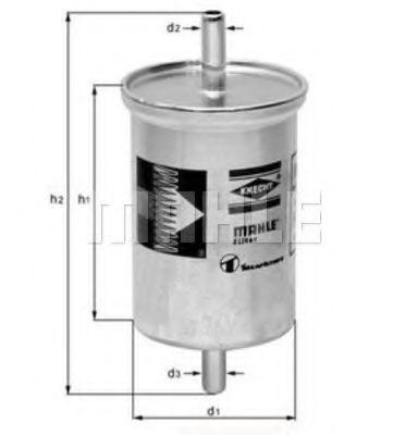 Фильтр топливный MAHLE KL2