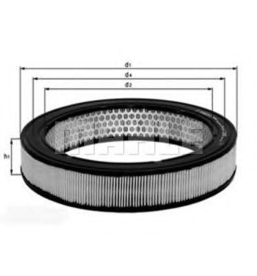Воздушный фильтр Mahle Kolben LX154