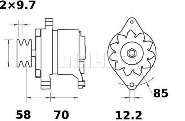 Генератор Mahle Kolben MG521
