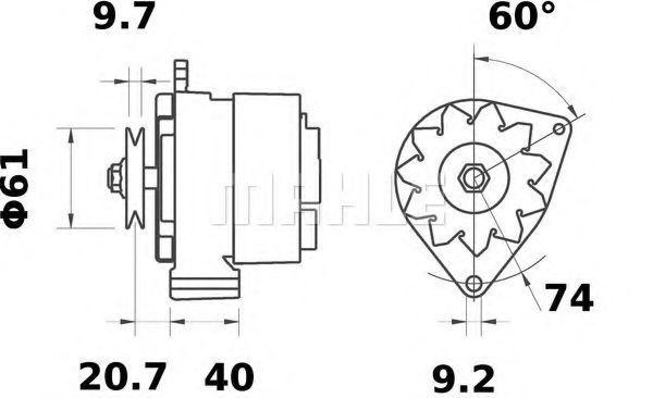 Генератор Mahle Kolben MG497