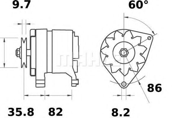 Генератор Mahle Kolben MG429