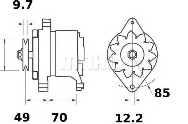Генератор Mahle Kolben MG156