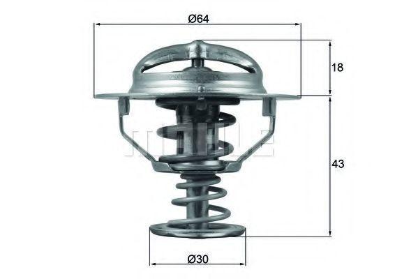 Термостат, охлаждающая жидкость Mahle Kolben TX11482D