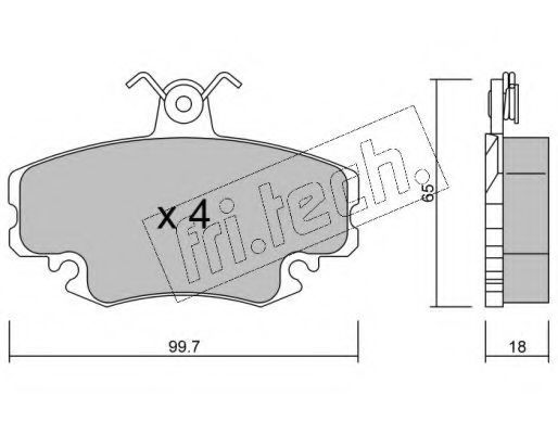 Комплект тормозных колодок, дисковый тормоз Fri.tech 1220