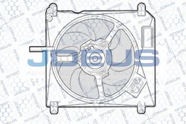 Вентилятор, охлаждение двигателя J.DEUS EV805400