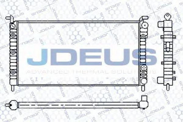 Радиатор, охлаждение двигателя J.DEUS 011M56