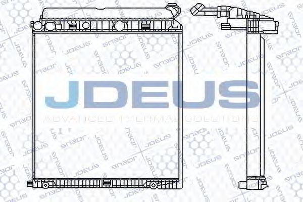 Радиатор, охлаждение двигателя J.DEUS 117M08
