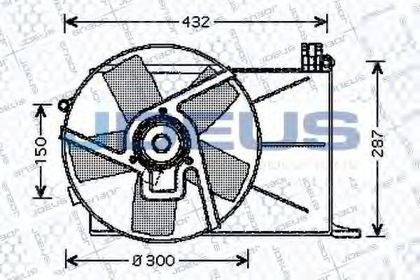 Вентилятор, охлаждение двигателя J.DEUS EV200530