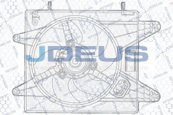 Вентилятор, охлаждение двигателя J.DEUS EV815400