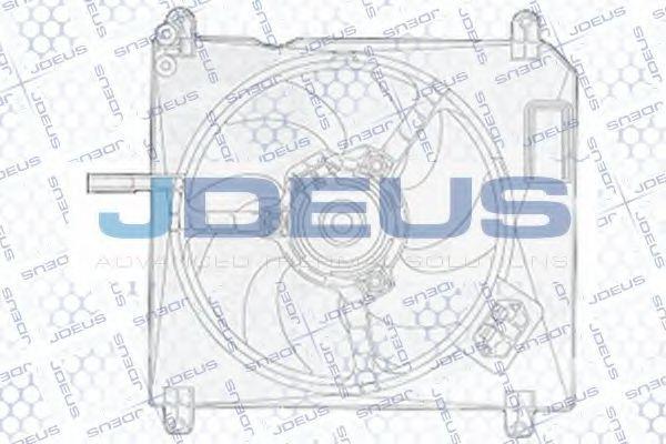 Вентилятор, охлаждение двигателя J.DEUS EV815500