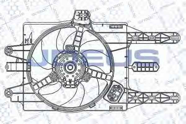 Вентилятор, охлаждение двигателя J.DEUS EV815600