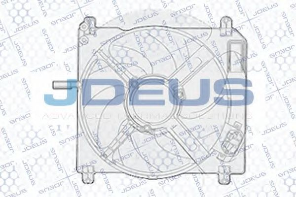 Вентилятор, охлаждение двигателя J.DEUS EV816800
