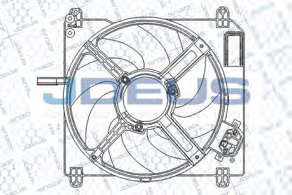 Вентилятор, охлаждение двигателя J.DEUS EV817000