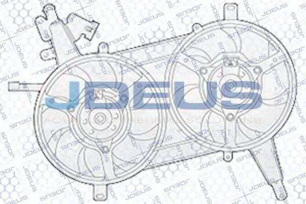 Вентилятор, охлаждение двигателя J.DEUS EV819810