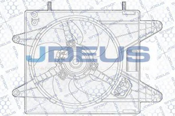 Вентилятор, охлаждение двигателя J.DEUS EV825400