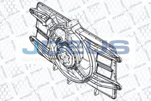 Вентилятор, охлаждение двигателя J.DEUS EV832300