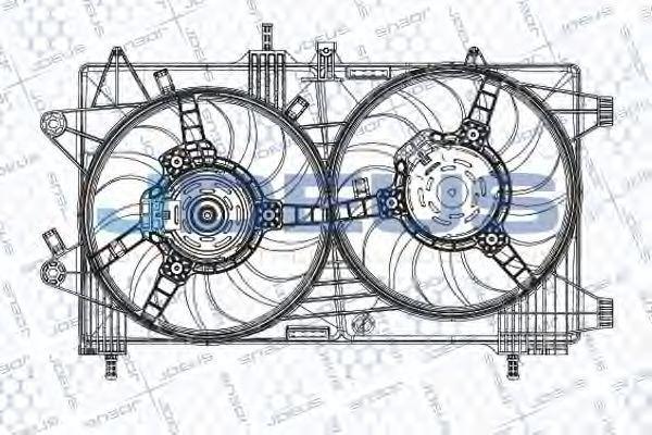Вентилятор, охлаждение двигателя J.DEUS EV848600