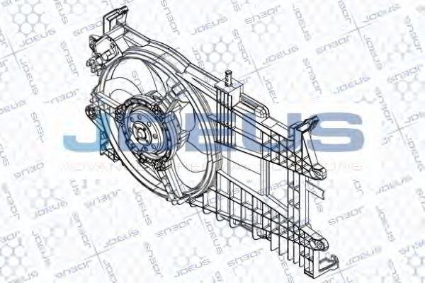 Вентилятор, охлаждение двигателя J.DEUS EV848700