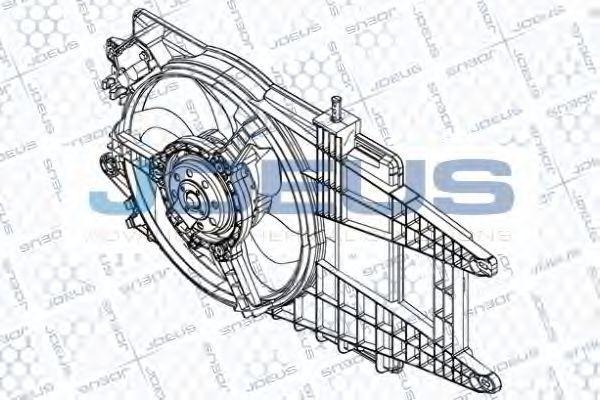 Вентилятор, охлаждение двигателя J.DEUS EV848800