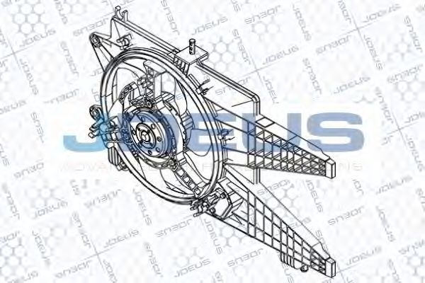 Вентилятор, охлаждение двигателя J.DEUS EV851600