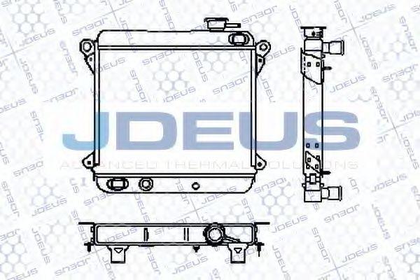 Радиатор, охлаждение двигателя J.DEUS RA0110010