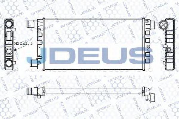 Радиатор, охлаждение двигателя J.DEUS RA0110211
