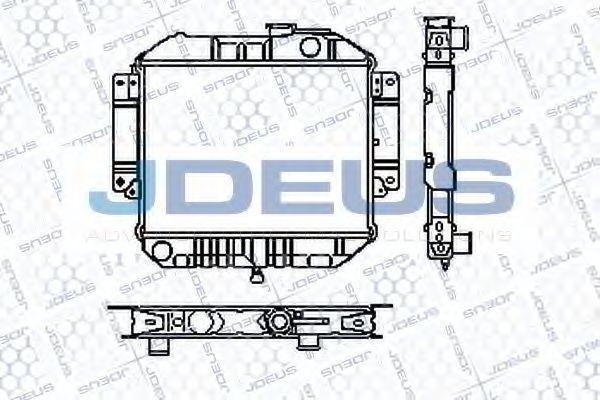 Радиатор, охлаждение двигателя J.DEUS RA0160010