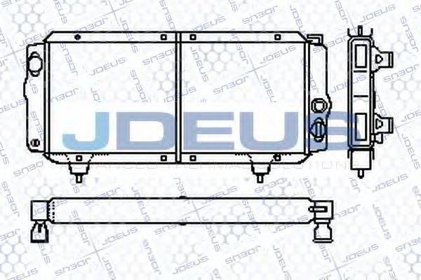 Радиатор, охлаждение двигателя J.DEUS RA0210000