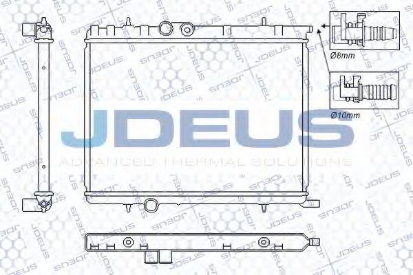 Радиатор, охлаждение двигателя J.DEUS RA0210331