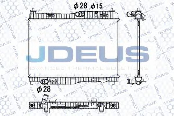 Радиатор, охлаждение двигателя J.DEUS 012M36