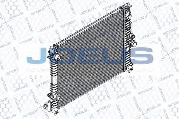Радиатор, охлаждение двигателя J.DEUS RA0201170