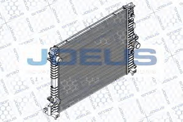 Радиатор, охлаждение двигателя J.DEUS RA0201180