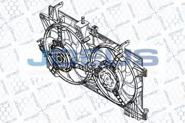 Вентилятор, охлаждение двигателя J.DEUS EV867400