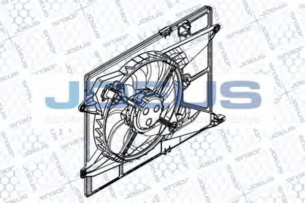 Вентилятор, охлаждение двигателя J.DEUS EV8D3440
