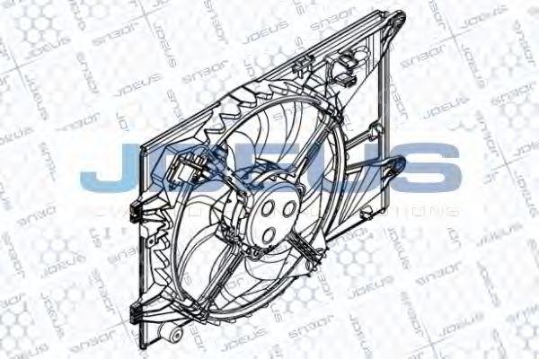 Вентилятор, охлаждение двигателя J.DEUS EV8D3640