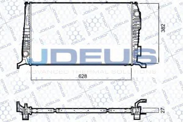 Радиатор, охлаждение двигателя J.DEUS 023M52