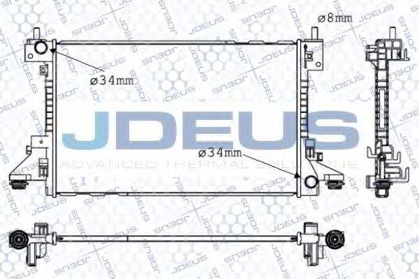 Радиатор, охлаждение двигателя J.DEUS 020M80