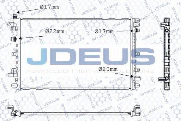Радиатор, охлаждение двигателя J.DEUS 020M81