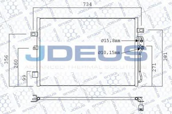 Конденсатор, кондиционер J.DEUS 711M68