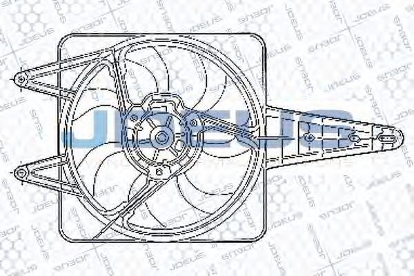 Вентилятор, охлаждение двигателя J.DEUS EV02249