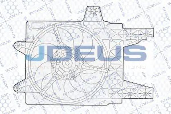 Вентилятор, охлаждение двигателя J.DEUS EV02281