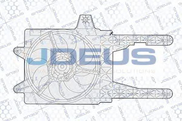 Вентилятор, охлаждение двигателя J.DEUS EV02282