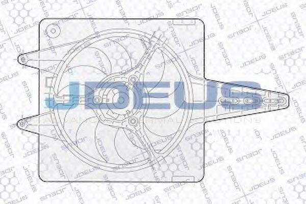 Вентилятор, охлаждение двигателя J.DEUS EV02303