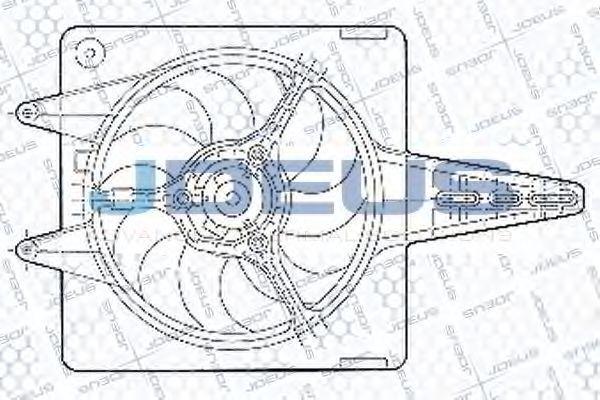Вентилятор, охлаждение двигателя J.DEUS EV02304