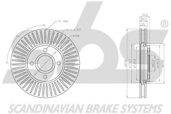 Тормозной диск S.B.S. 18152025103