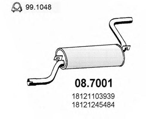 Глушитель выхлопных газов конечный ASSO 087001