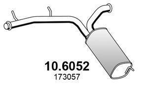 Средний глушитель выхлопных газов ASSO 106052