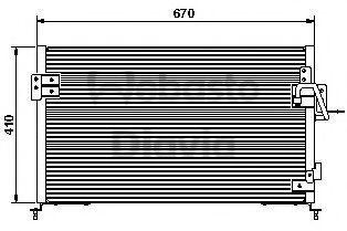 Конденсатор, кондиционер WEBASTO 82D0225443A