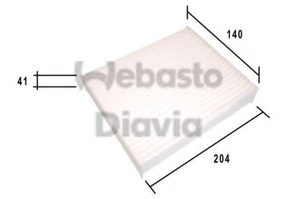 Фильтр, воздух во внутренном пространстве WEBASTO 82D0325185A