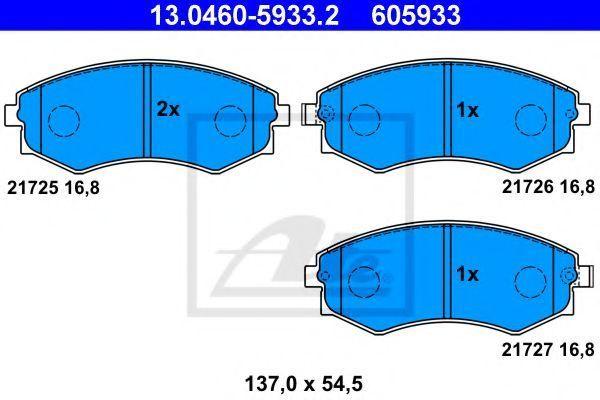 Колодки тормозные ATE 13046059332
